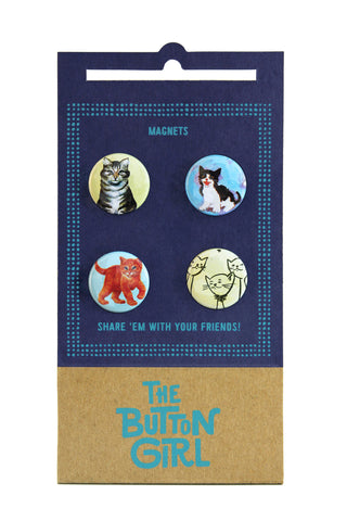 Four Magnet Set - cats