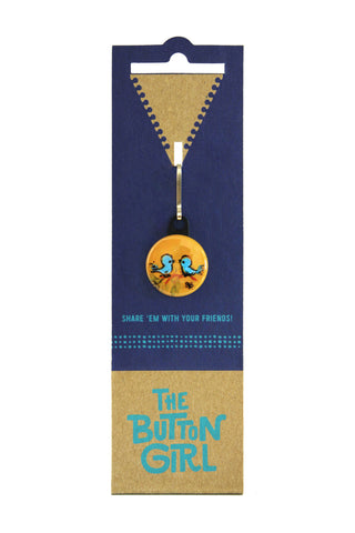 Zipper Pull - two blue birds