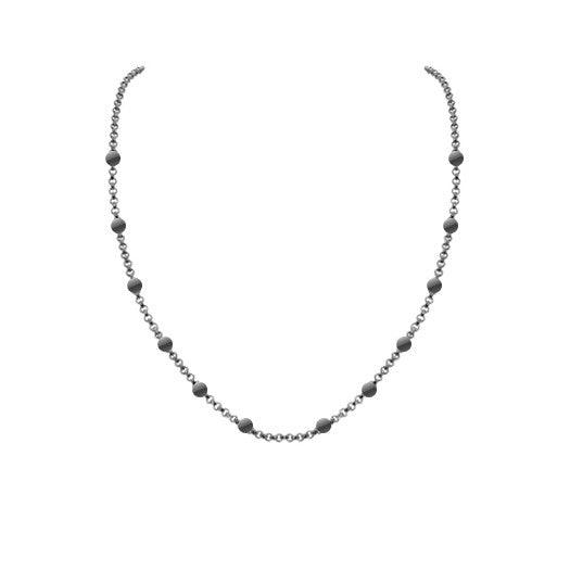 90cm silver necklace SNBRH090