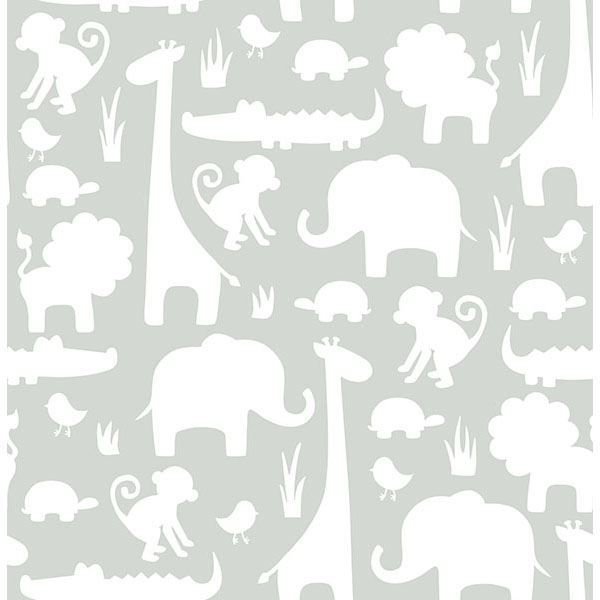 jungle animal peel and stick wallpaper