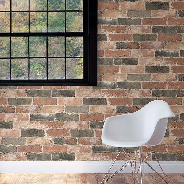 reclaimed brick peel and stick wallpaper