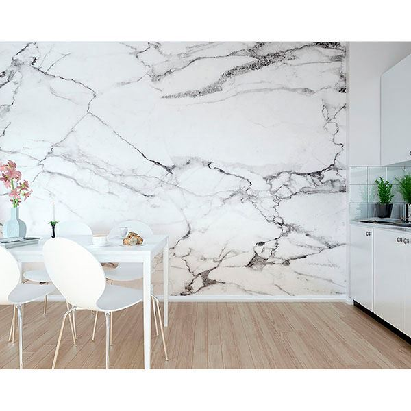 marble statement wall wallpaper