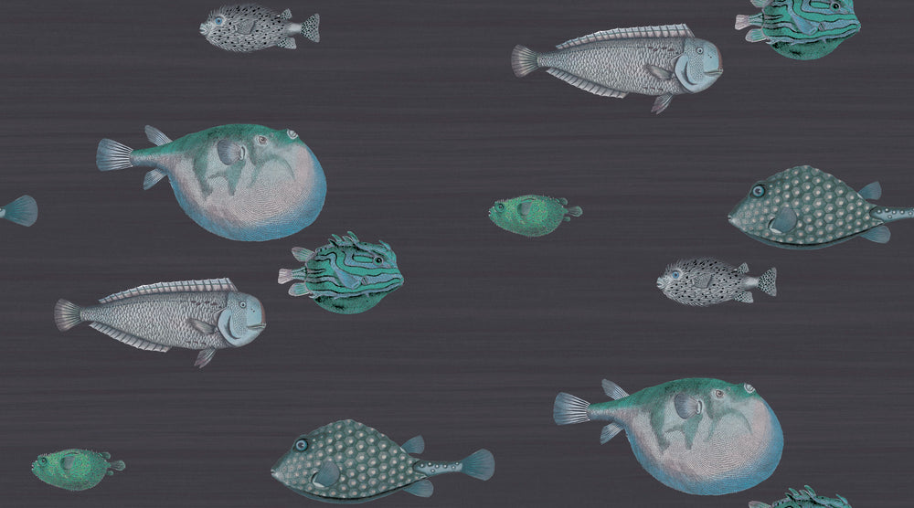 nautical fish wallpaper