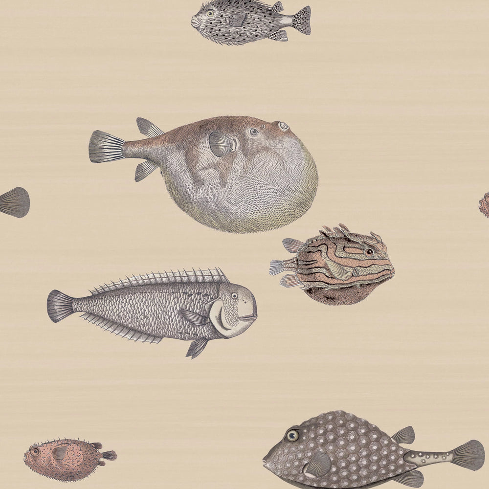 puffer fish wallcovering