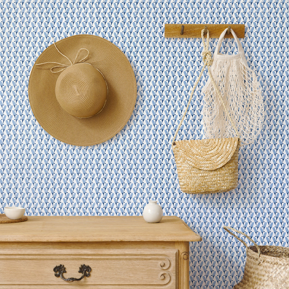 country chic geometric wallpaper