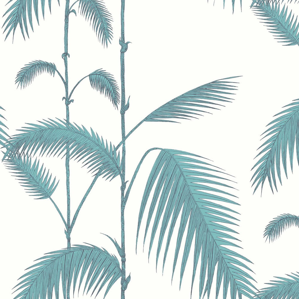 Palm Leaves White/Green