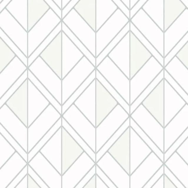 neutral metallic geometric wallpaper