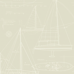 ivory boat blueprint wallpaper