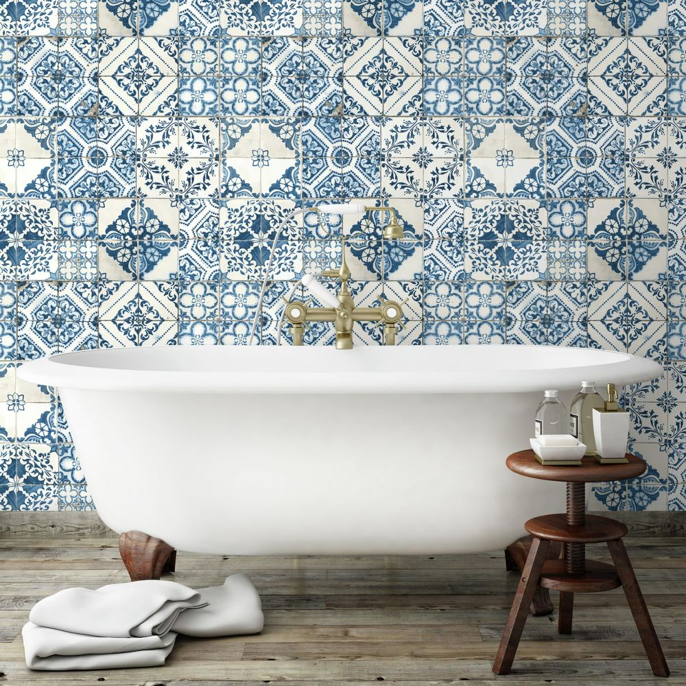 imitation tile wallpaper