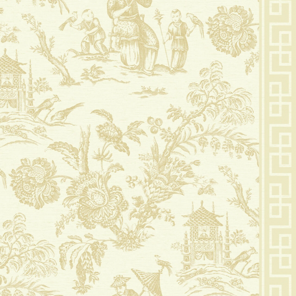 neutral chinoiserie wallpaper