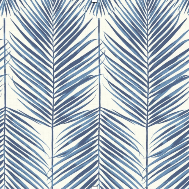 Breezy Leaf Coastal Blue SAMPLE