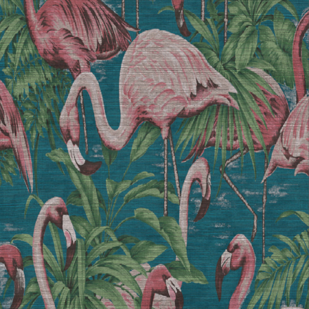 Flamingo Curiosa Teal Sample