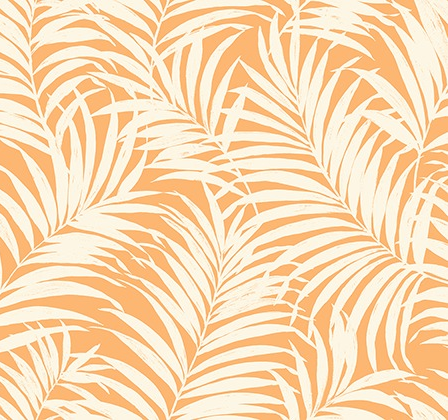 Tropical Fronds Orange