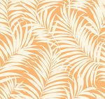 Tropical Fronds Orange cream