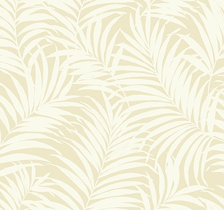 Tropical Fronds Ivory