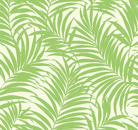 Tropical Fronds Green SAMPLE