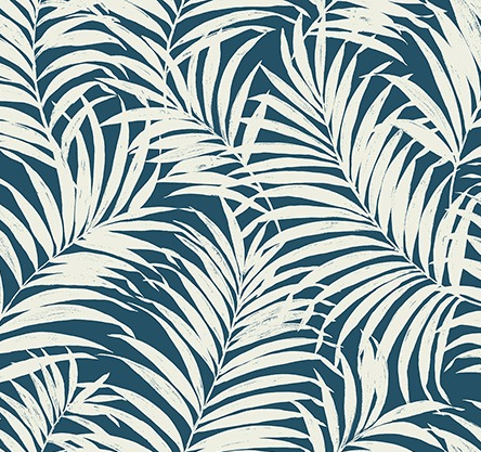 Tropical Fronds Navy|White