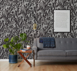 hand screen printed wallpaper
