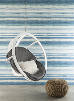 Painted stripe wallpaper