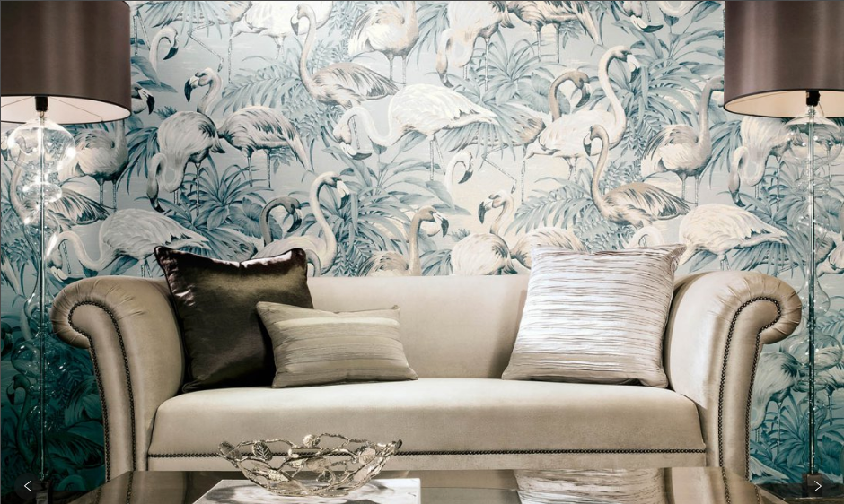 whimsical vintage wallpaper
