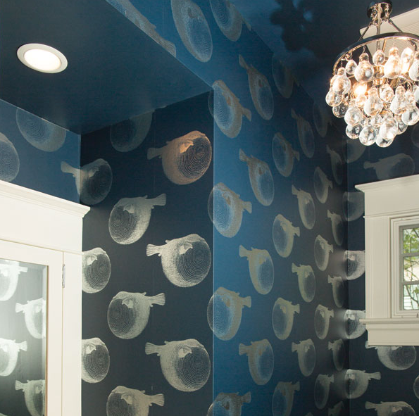 statement bathroom wallpaper