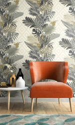 stripe tropical wallpaper