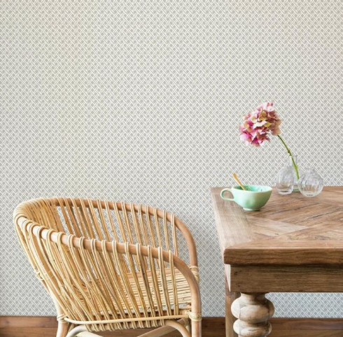 beige geometric wallpaper