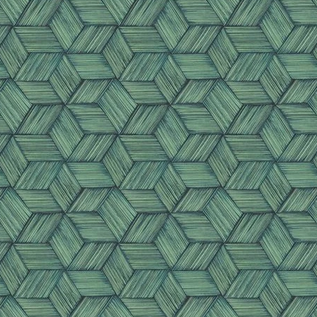 Intertwined Geometric Dark Green