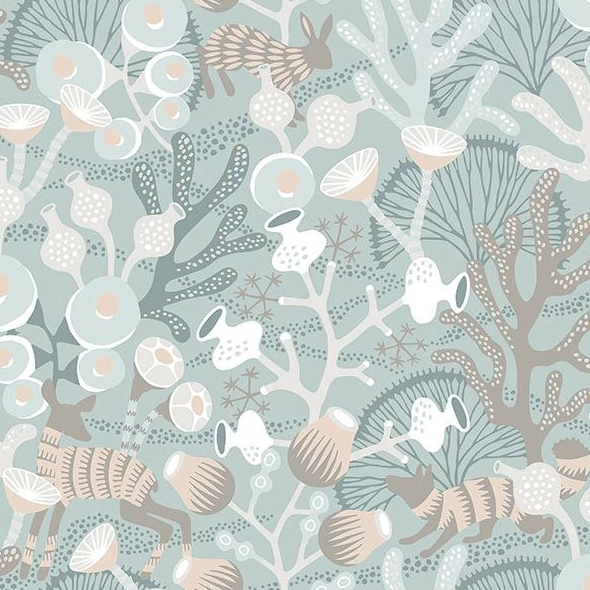 vintage sea life wallpaper