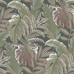 muted green tropical wallpaper