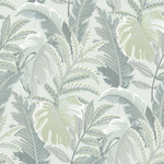 mint green tropical wallpaper