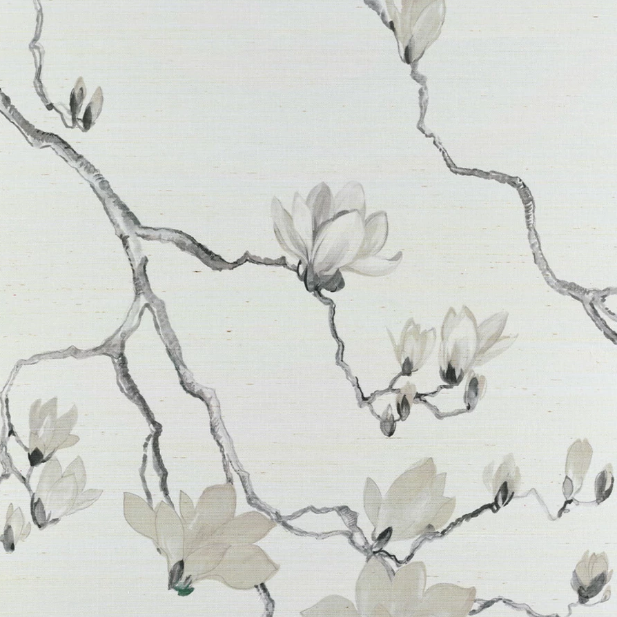 Blossom Mural Taupe On Marshmallow