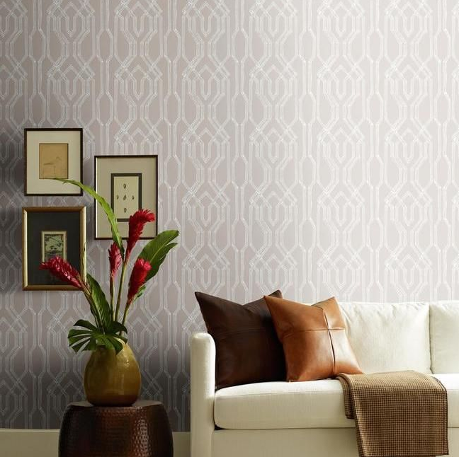trellis chic wallpaper