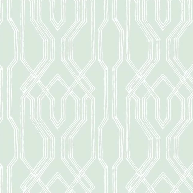 green and white trellis