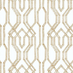 gold and white lattice pattern