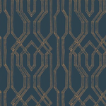 Oriental Lattice Navy