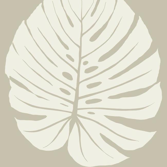 neutral leaf wallpaper