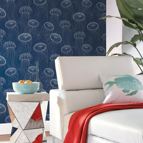 navy nautical wallpaper