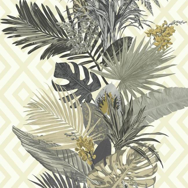 neutral tropical wallpaper