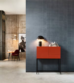 leather vinyl statement wallcovering