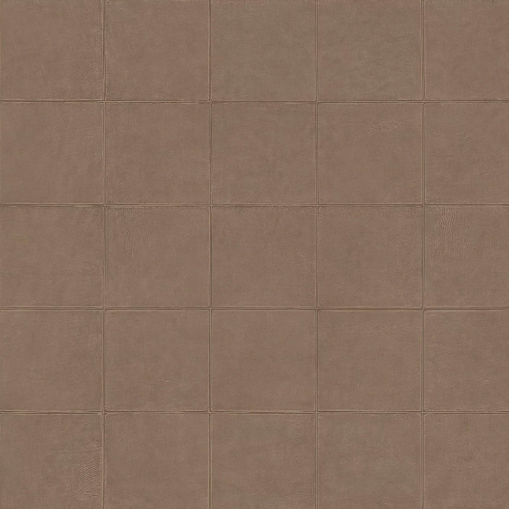 soft brown leather like wallcovering