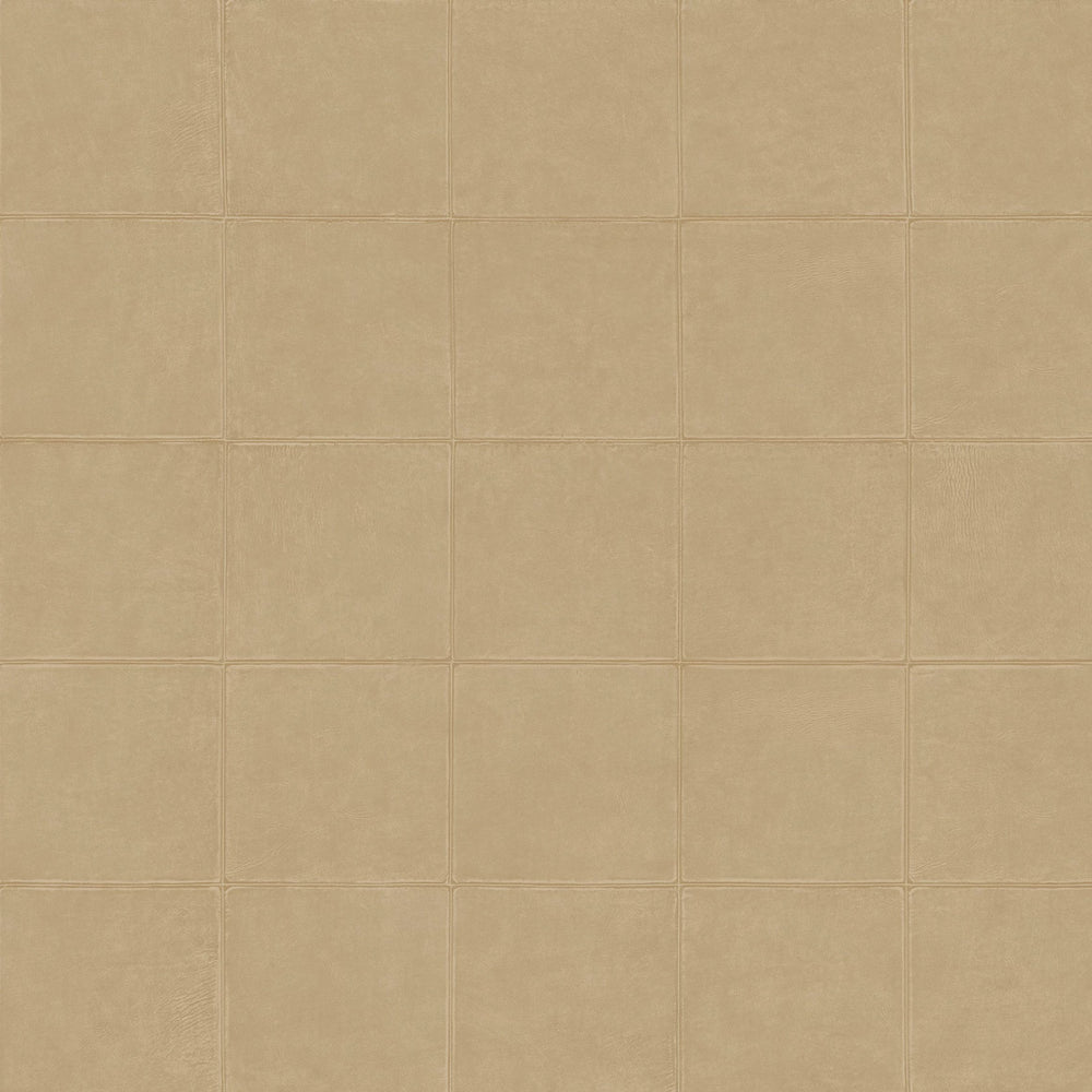 soft beige leather like wallcovering