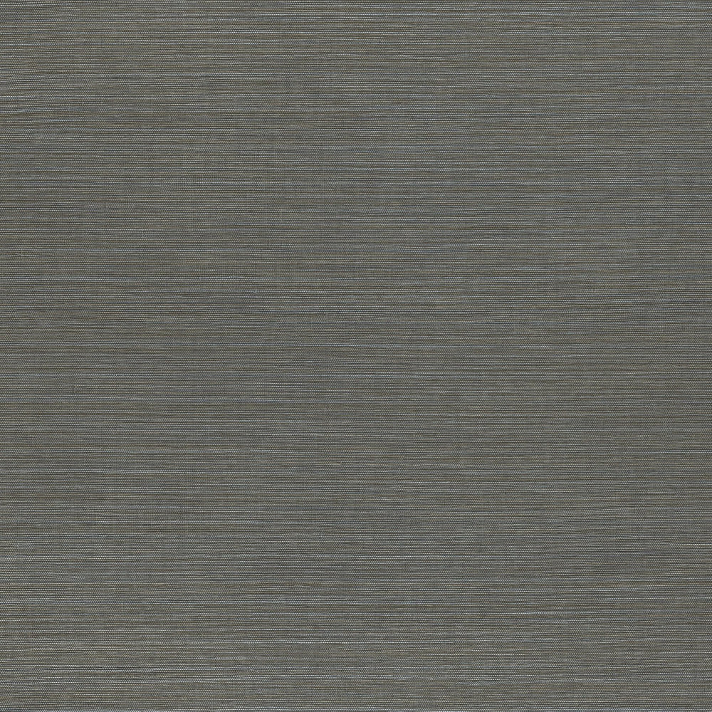 Smoke Blue vinyl grasscloth wallpaper