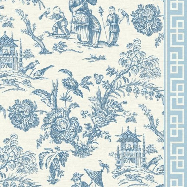 blue chinoiserie wallpaper
