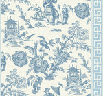 vintage inspired chinoiserie wallpaper