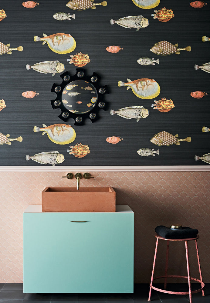 statement fish wallpaper