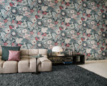 vintage inspired floral vinyl wallpaper