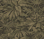 olive palm leaf texture wallpaper