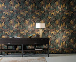 sophisticated monkey vinyl wallpaper