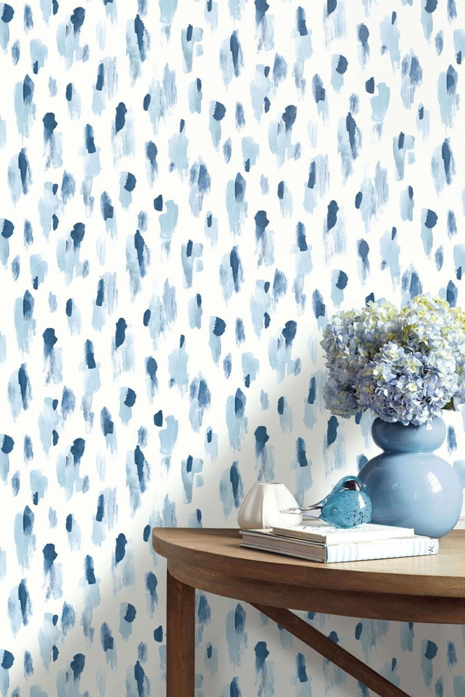 blue leopard print wallpaper